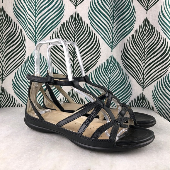 d4e35d19524 Ecco Shoes - Ecco Flash Low Leather Gladiator Strappy Sandals